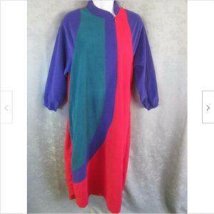 70's Vanity Fair Velour Robe Size Small Zip Front